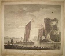 1761-MARINE ANGLOISE-ENGALND-RARA ACQUAFORTE-PAESAGGIO