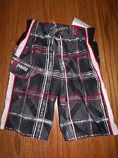 Nwt Boys Zeroxposur Swimsuit Swimwear Swim Trunks Red Gray Size 4