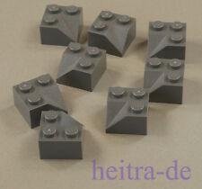 LEGO - 8 x Dachinnenecke Dachecke 45 Grad 2x2 dunkelgrau / 3046a NEUWARE
