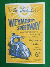 More details for speedway programme weymouth v poole 6th may 1955