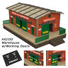 HO Scale Warehouse Kit with Motorized Working Doors (see video)