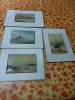 miniatures   décor maritime  4piéces=lesbateaux ,le pont