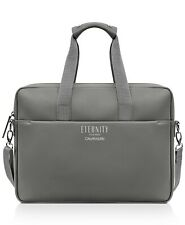 CALVIN KLEIN eternity GRAY faux leather laptop computer carry on shoulder Bag
