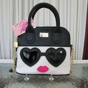 Luv Betsey Johnson Kitsch Heart Sunglasses Crossbody Purse Bag NWT