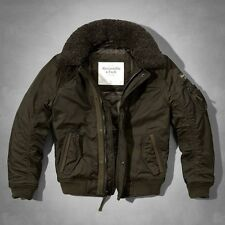 Men's Abercrombie & Fitch Fur Collar Flight Jacket Size S