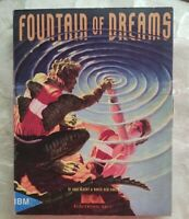 RARE Fountain of Dreams BIG BOX Electronic Arts Tandy/PC wasteland With Cluebook