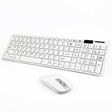 Slim 2.4G X2 Wireless Keyboard and Cordless Optical Mouse Combo For PC white