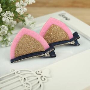 1 Pair Cat Ear Hairpins Hair Clip Pin Cosplay Ears Kitten Fancy Dress Costume