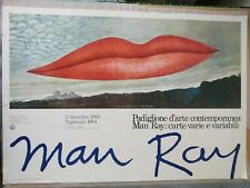 """MAN RAY affiche originale """"THE LIPS"""" exposition 1983"""