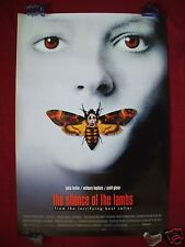 THE SILENCE OF THE LAMBS * 1991 ORIGINAL MOVIE POSTER 1SH STYLE D HALLOWEEN NM