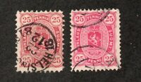Finland - Sc# 22 & 22a Used   /   Lot 0620370