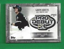 2018 Topps Pro Debut Distinguished Medallion Patch GAVIN SHEETS /99 White Sox
