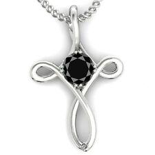 2.05 ct AAA/ BLACK REAL MOISSANITE & NATURAL ROUGH DIAMOND SILVER JESUS PENDANT