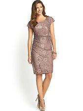 Nylon Special Occasion Short Sleeve Dresses Midi