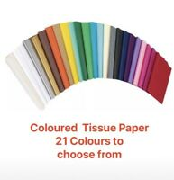 Coloured Tissue Paper 25 Sheets High Quality Acid Free 500mm x 750mm 21 Colours
