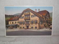 Vecchia cartolina foto d epoca di Albergo Rieder in Monguelfo Pusteria Italia