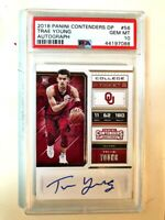 2018 Trae Young Panini Contenders Draft Picks Rookie Auto #56 PSA 10