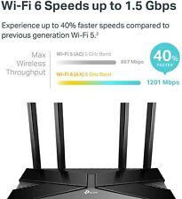 TP-Link AX1500 802.11ax, 4 Gigabit Ports Wi-Fi 6 Dual-Band Router | Archer AX10