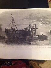 J1-8 Ephemera 1863 Picture American Civil War Confederates Charleston At Sea