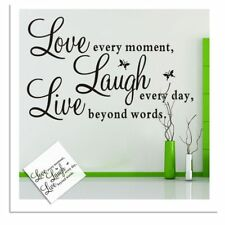 Quote Decor Wall Vinyl Home Every Removable Living Sticker Live Laugh Love