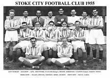 STOKE CITY F.C.TEAM PRINT 1955 (KING/MALKIN/THOMSON/CAIRNS)