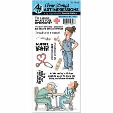 Work & Play Clear Stamp Set - Proud Nurse - Art Impressions