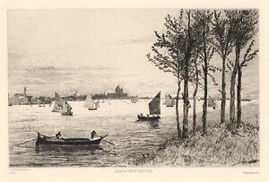 "John Postle Heseltine ""Venice"" original etching"