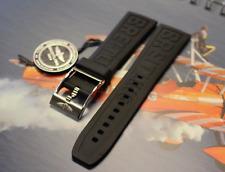 Genuine New Breitling BLACK Caoutchouc Rubber Diver Pro 3 Pin Strap 20-18mm 150S