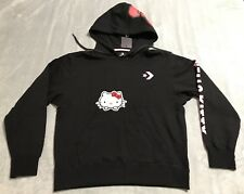3fb5590e45b7 Converse Hello Kitty Black Pink Pullover Hoodie Women s Medium M 10008208  A01