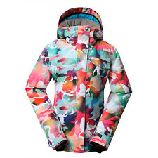 GSOU SNOW Womens Ladies Waterproof Ski Snowboard Padded Jacket Hooded Coat CAMO