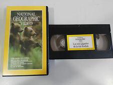 LOS OSOS GIGANTES DE LA ISLA KODIAK - VHS TAPE CINTA NATIONAL GEOGRAPHIC VIDEO