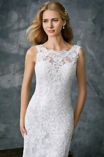Stunning Lace Organza Wedding Dress ivory Size 16 UK Seller In Stock