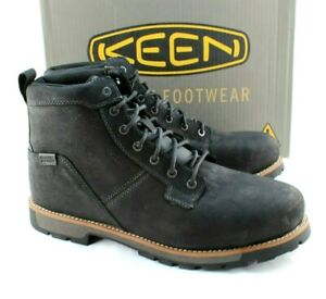 KEEN Seattle Size 14 D Black Aluminum Toe EH Waterproof Men's Boots RETAIL $160