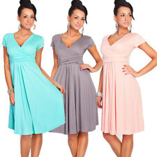 Vintage 50S 60S A Line Short Sleeve Dresses Party Swing Pin up Dress Housewife