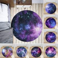 Cosmic Starry Sky Non-slip Round Soft Area Rug Floor Carpet Door Mat Home Decor