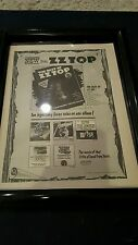 Zz Top Rare London Records Original Promo Ad Framed!