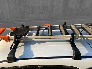 Roof Rack and Load Stops Ladder Tilt For Subaru XV Trek 2013-2019 V3 Black