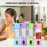 Portable Mini Blender Juicer Cup Fruit Mixing Machine USB Rechargeable 380ML