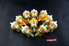 "BMW Motorcycle Clear Inline GAS Carburetor Fuel Filter 6mm 7mm 1/4"" MOTOR 10PCS"
