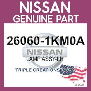 Genuine Nissan OEM 26060-1KM0A LAMP ASSY-LH 260601KM0A