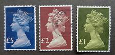 BRITAIN1977 used* high denomination Machins up to £5. Please read description