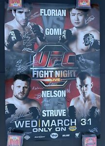 Ultimate Fight Night 21, UFC Autographed Poster, Pride fC, One FC