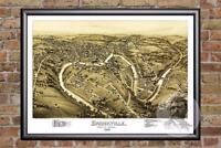 Vintage Brookville, PA Map 1895 - Historic Pennsylvania Art - Old Industrial