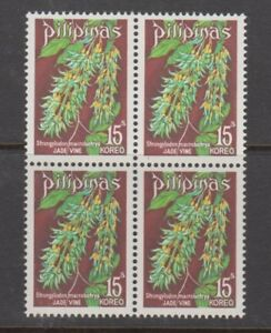 Philippine Stamps 1975 Jade Vine Complete Block of 4 MNH
