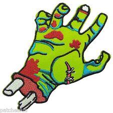 Zombie Green Hand Bone Skull Monster War Dead Biker Tattoo Iron on Patches #1557