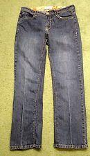 Kim Rogers womens size 10 denim blue jeans w 32 L 30 fancy rear pockets