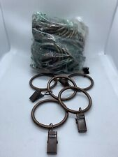 42-pack Metal Curtain Rings with Clips - Bronze NO PACKAGE OR TAGS