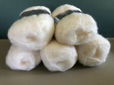 Patons Lacette Yarn Lot of 5 Skein Fine Craft White Whisper Knitting Crochet