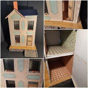 Antikes entzückendes Moritz Gottschalk Puppenhaus *blaues Dach* - schöne Größe!
