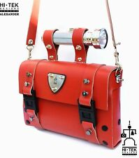 Red leather shoulder bag mens statement Steampunk Goth industrial retro unusual